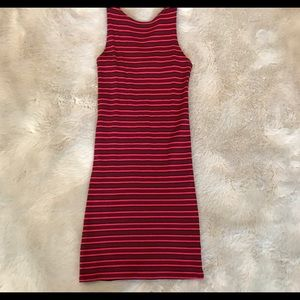 Topshop Bodycon Striped Dress